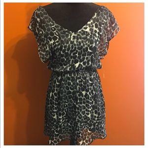 Express Leopard Print Dress